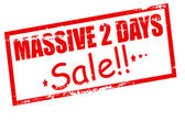 Massive two days sale — Stock Vector
