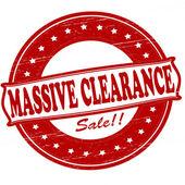 Massive clearance — Stock Vector
