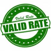 Valid rate — Stock Vector