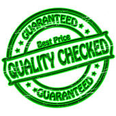 Quality checked — Stock Vector