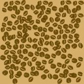 Isolated coffee beans — Stock Vector