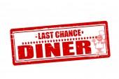 Last chance diner — Vector de stock