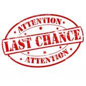 Last chance — Stock Vector