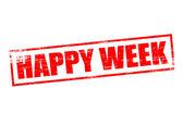Happy week — Stock Vector