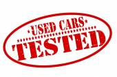 Used cars tested — Stok Vektör