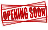 Opening soon — Vector de stock