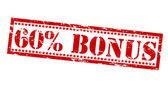 Sixty percent bonus — Stock Vector