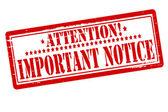 Important notice — Stock Vector