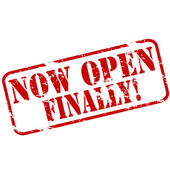 Now open finally — Vector de stock