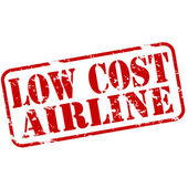 Low cost airline — Stock Vector