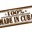 One hundred percent made in Cuba — Stock Vector #57271753