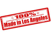 One hundred percent made in Los Angeles — Cтоковый вектор