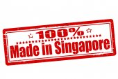 One hundred percent made in Singapore — Cтоковый вектор