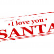 I love you Santa — Stock Vector #57571111