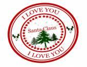 I love you Santa Claus — Stock Vector