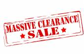 Massive clearance — Stock Vector