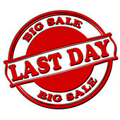 Last day big sale — Stock Vector