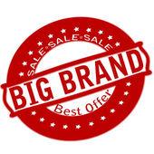 Big brand — Stock Vector