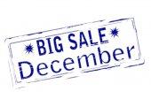 Big sale December — Cтоковый вектор