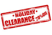 Holiday clearance — Stock Vector