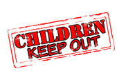 Children keep out — Stock Vector