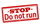 Do not run — Stock Vector