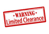 Warning liited clearance — Stock Vector