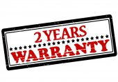 Two years warranty — Stock Vector