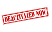 Deactivated now — Vector de stock