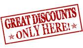 Great discounts — Stock Vector
