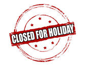 Closed for holiday — Stock Vector