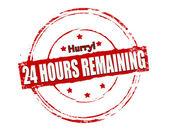 Twenty four hours remaining — Stock Vector