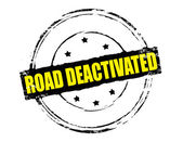 Road deactivated — Stock Vector