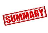 Summary — Stock Vector
