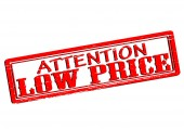 Attention low price — Stock Vector
