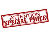 Attention special price — Stock Vector