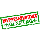 No preservatives — Stock Vector
