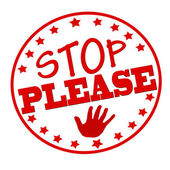 Stop please — Stockvector