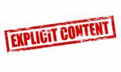 Explicit content — Stock Vector