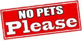 No pets please — Stock Vector