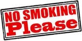 No se puede fumar, por favor — Vector de stock