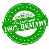 One hundred percent healthy — Stock Vector