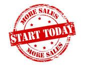 Start today — Stock Vector