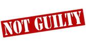 Not guilty — Stock Vector