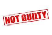 Not guilty — Vector de stock