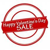 Happy Valentine day sale — Stock vektor