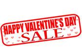 Happy Valentine day sale — Stock Vector