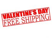 Valentine day sale free shipping — Vector de stock