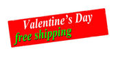 Valentine day free shipping — Stock Vector