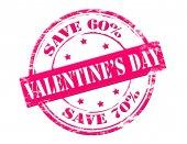 Valentine day save — Stock Vector